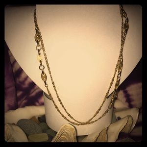 Vintage golden necklace